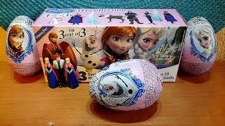 3-Pack Surprise Eggs Disney Frozen Movie 3-D Collection Unboxing Toys 2014 Huevos Sorpresa