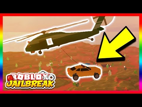 INSANE MILITARY HELICOPTER GLITCH! *PICK UP CARS!* (Roblox Jailbreak New Update)