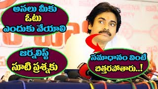 Pawan Kalyan Superb Answer to Journalist at Janesena Press Meet Karimnagar | Pawan Kalyan | TTM
