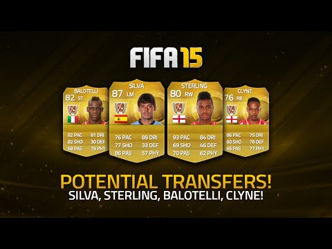 POTENTIAL TRANSFERS! - DAVID SILVA, STERLING, BALOTELLI, CLYNE! | FIFA 15 Ultimate Team
