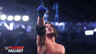 AJ Styles gets emotional when the cameras stop rolling: Raw Fallout, April 4, 2016