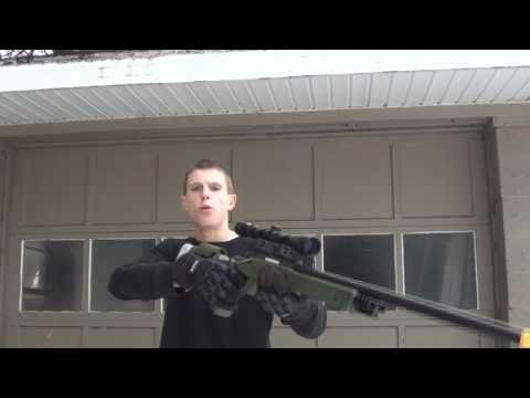 TSD SD97 Airsoft Sniper Shooting Test