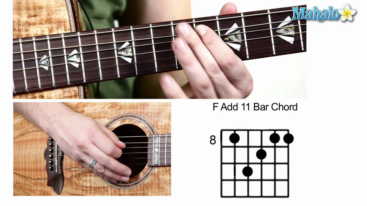 how to play f chord on guitar video