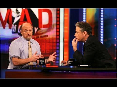 Jim Cramer Fighting Jon Stewart