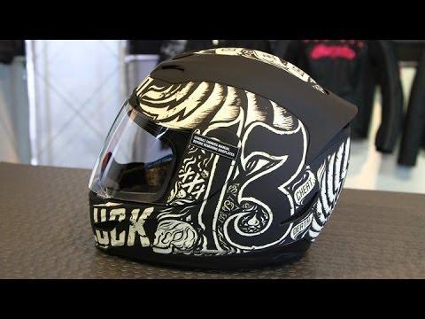 Icon Helmet Graphics Icon Airmada Hard Luck Helmet