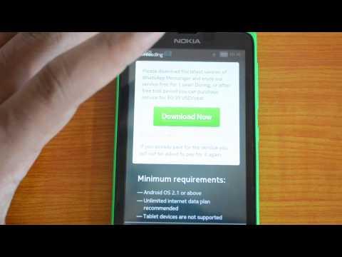 WhatsApp on Nokia X