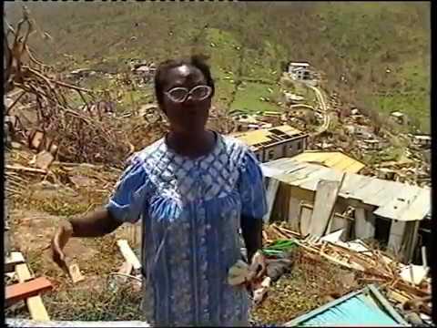 Ravage na orkaan Louis op Sint Maarten 1995