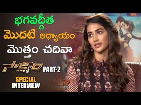 Pooja Hegde SWEET WORDS about Spirituality || Sakshyam Movie interview 2018 - Sai Sreenivas