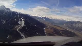 ✈Innsbruck Airport - Visual Approach & Landing (Cockpit View)