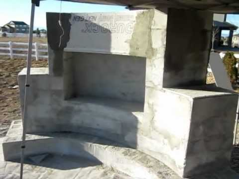 Building An Outdoor Fireplace Part 3 Youtube