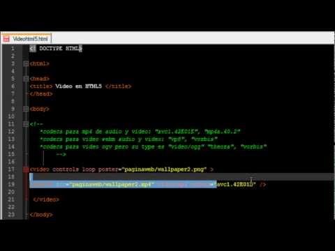 Como hacer un reproductor de vídeo con HTML5
