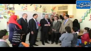 محافظ المنيا يفتتح مدرسة المنيا الرسمية للغات