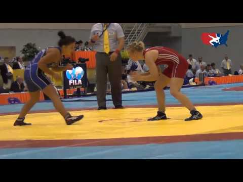 2012 Junior Worlds - FW 63kg - Alli Ragan (USA) vs. Anastasiya Huchok (BLR)
