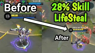 Saber 28% Spell Vamp - Saber Can Carry? New Build & Emblem Set | Mobile Legends: Bang Bang