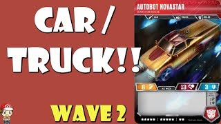 We're getting a CARTRUCK in the Transformers TCG! (Novastar!) (Wave 2)