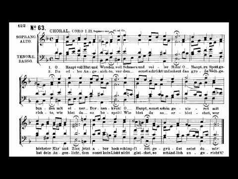 Бах Иоганн Себастьян - O Haupt Voll Blut Und Wunden
