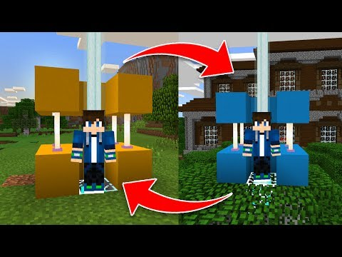 How to Build a TELEPORT MACHINE in Minecraft Pocket Edition 1.1.1!