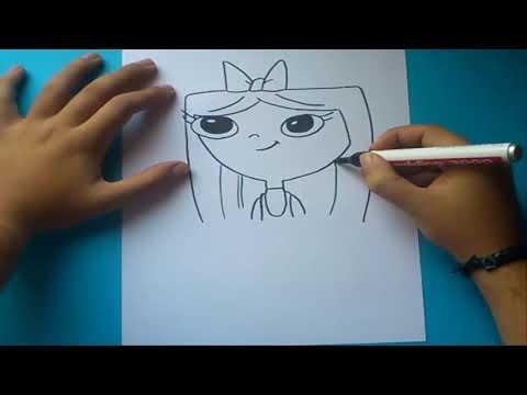 Como dibujar a Isabella paso a paso - Phineas y Ferb | How to draw Isabella - Phineas y Ferb