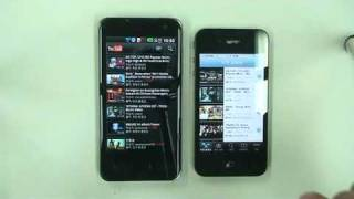 Optimus 2X vs iPhone4_YouTube speed
