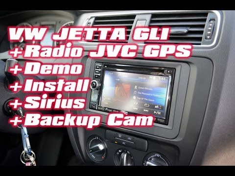 VW Jetta GLi JVC Navigation GPS. Sirius radio. Backup Camera Radio installation by AutoToys.com