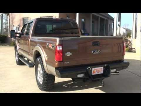 2011 FORD F250 CREW CAB 4X4 KING RANCH HAND DIESEL BRONZE METALLIC FOR SALE SEE WWW SUNSETMILAN COM