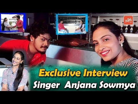 Singer Anjana Sowmya Exclusive Interview | Tollywood Singers Interview | YOYO TV Channel