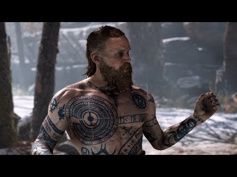God of War PS4 - The Stranger Boss Fight #2 (Give Me God of War Hard Difficulty) (4K)