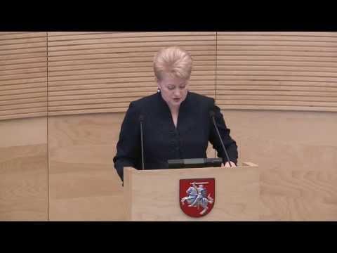 2013-06-11 Lietuvos Respublikos Prezidentė Dalia Grybauskaitė Seime skaitė metinį pranešimą