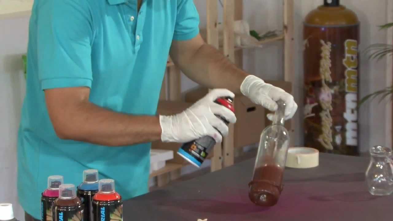 Transformer des bouteilles de verre en vases youtube - Peindre des verres a pied ...