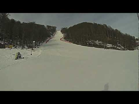 Ted Ligety Training on Sochi Olympic GS Hill