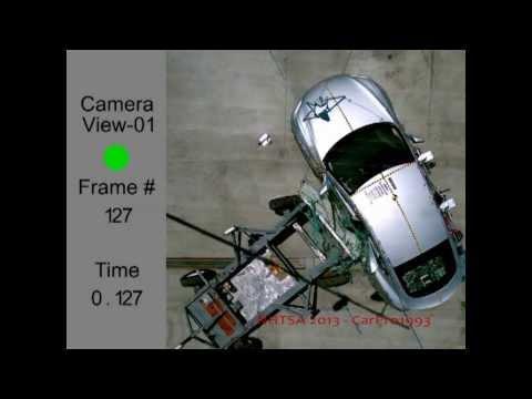 2013 Tesla Model S (All-Electric Plug-In) NHTSA Side Impact (NHTSA Five Star Car)