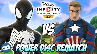 Black Suit Spiderman VS Captain America Disney Infinity 3.0 Toy Box Power Disc Rematch