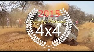 Girls drives a Defender through the mud at Landy Festival 2015 Part 1/5 Land Rover
