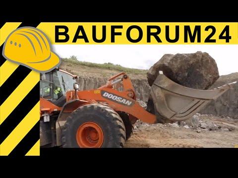 Doosan Baumaschinen im Steinbruch - Doku Steinbruchtage Mendig -  Bauforum24 TV