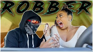 I Followed My BF As a DISGUISED ROBBER! (bad idea)
