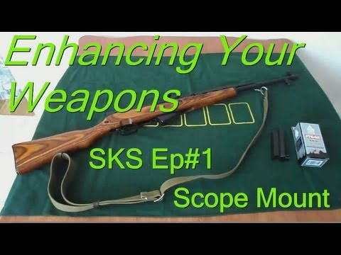 How To Install SKS Receiver Cover Scope Mount w/ Rail EASY (Enhancing Your Weapons: SKS Ep#1)