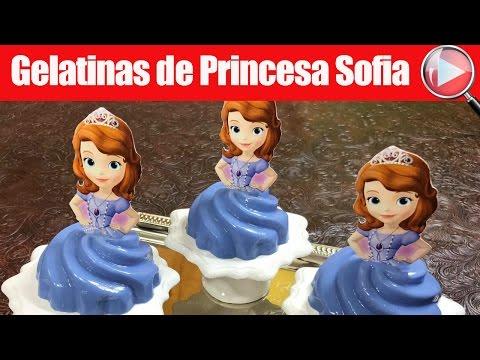 Gelatinas de Princesa Sofia Individuales - Para las Niñas - Recetas en Casayfamiliatv