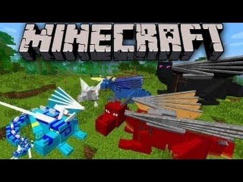 Minecraft 1.5.2 Dragon Mount Mod - Review   How to install (IkBenJeGame)