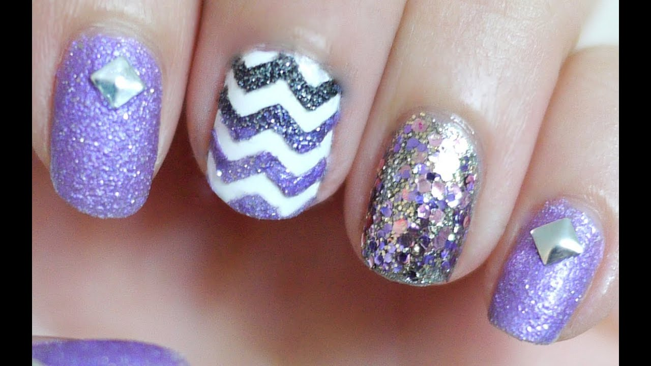 Textured Chevron Nails