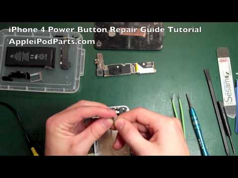 iPhone 4 Power Button Repair NOT Replacement Guide Tutorial - AppleiPodParts.com