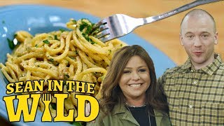 Rachael Ray Teaches Sean Evans How to Make Pasta Carbonara | Sean in the Wild