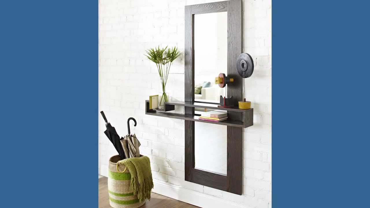 how to make a mirror frame and shelf youtube. Black Bedroom Furniture Sets. Home Design Ideas