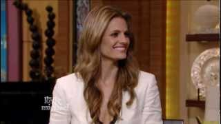 Stana Katic - pretty in Kelly Ripa interview