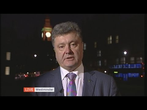 Ukraine presidential candidate Petro Poroshenko
