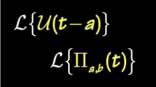 Laplace Transform of Discontinuous Functions (Nagle Sect7.6)