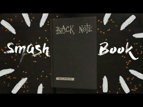 Творческий Black Note 🎨| Осенние развороты в черном блокноте📓