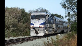 Sorrento Valley Train Compilation: Amtrak, Coaster, BNSF Windmill Train