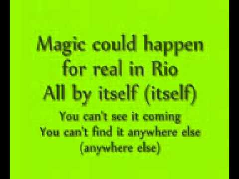 Real In Rio Lyrics(rio The Movie) video