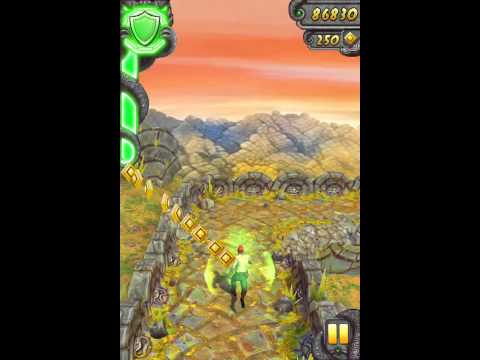 iPhoneアプリ Temple Run 2 プレイ動画 トロッコまで