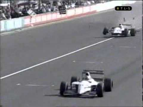 Accident - Pierluigi Martini and Christian Fittipaldi - Italian GP 1993 - Monza
